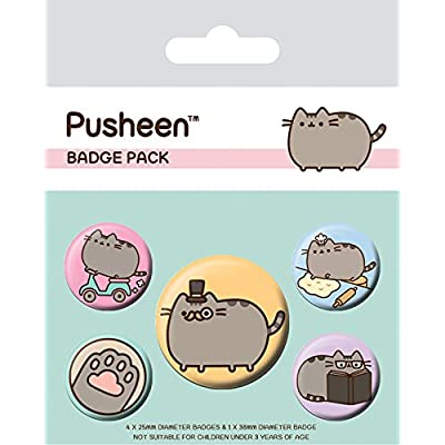 Pusheen BP80623-Multi-Color-10 x 12.5cm Fancy Badge Pack, 10 x 12.5cm, Multi-Color: Home & Kitchen