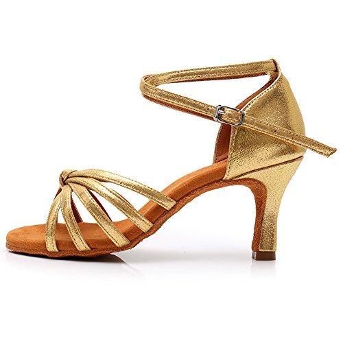 di 217 da Alta Sala Raso da Ballo Donna da 7cm qualità in Ballo Ballo HROYL Oro LP Latino per Scarpe Scarpe vUSnvFg