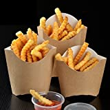 Brown Kraft Paper French Fries Box Fish Chips Box(100pcs)