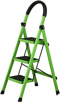 DD Escalera Portátil Plegable de Acero de 3 Pasos Para Trabajo Pesado - Multi-Colou (Tamaño : Green): Amazon.es: Bricolaje y herramientas
