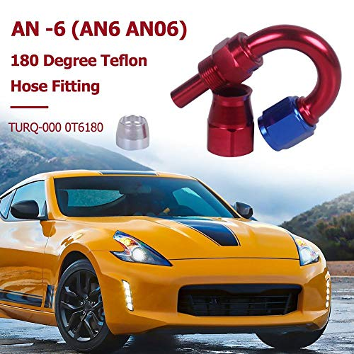 Widewing an -6 180 Degree Swivel Seal Fuel Oil Filter Braided PTFE Hose Fitting Aluminum