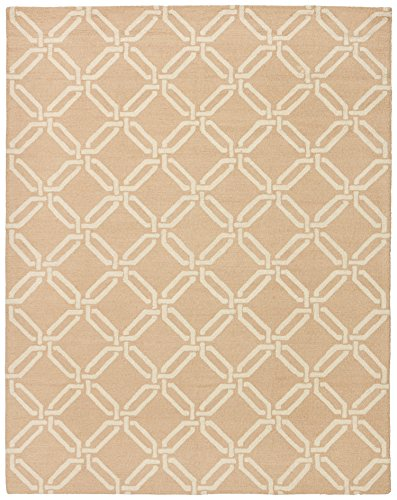 Stone & Beam Contemporary Interlocking Rings Wool Rug, 7'6'' x 9'6'', Beige by Stone & Beam