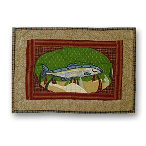 Patch Magic 16-Inch by 12-Inch Gone Fishing Crib Toss Pillows