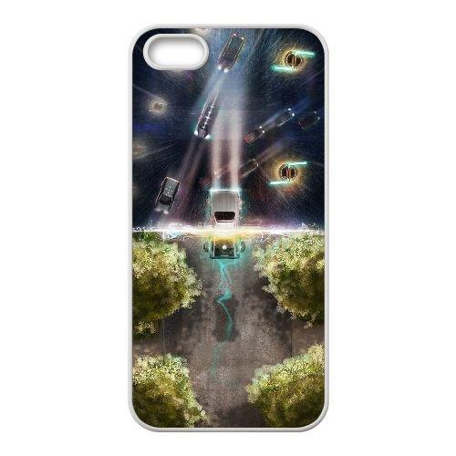 Back To The Future coque iPhone 4 4S Housse Blanc téléphone portable couverture de cas coque EBDOBCKCO11076