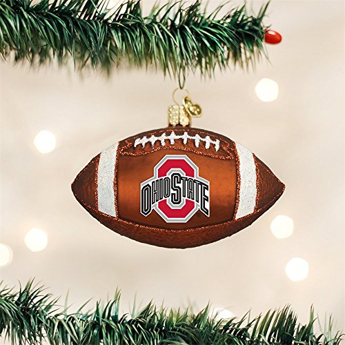 Old World Christmas Ohio State University Football Glass Blown Ornament by Old World Christmas (Image #1)