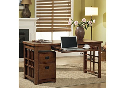 Mission Pasadena Laptop Desk with Mobile File Mission Oak Finish Dimensions: 60