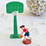 Dorigan home series Basketball Player Girl Woman And Hoop Cake Topper Sports Team Party Decoration