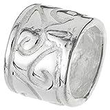 .925 Sterling Silver Bali Flower Tube Bead Spacer For European Charm Bracelets