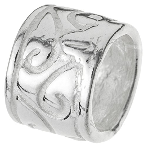 Dreambell .925 Sterling Silver Bali Flower Tube Bead Spacer For European Charm Bracelets