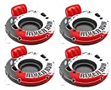 Intex Red River Run 1 Fire Edition Sport Lounge 4 pack, Inflatable Water