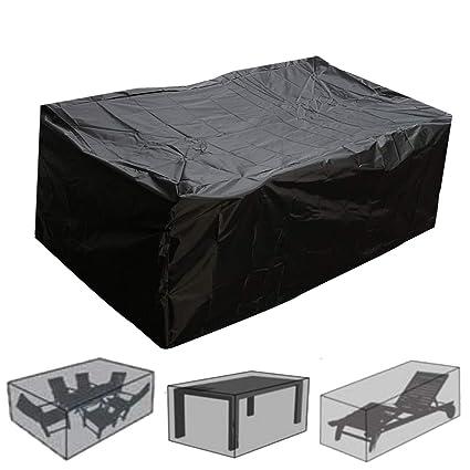 YURASIKU Outdoor Garden Furniture Rain Cover Waterproof Oxford Wicker Sofa  Protection Set Patio Rain Snow Dustproof