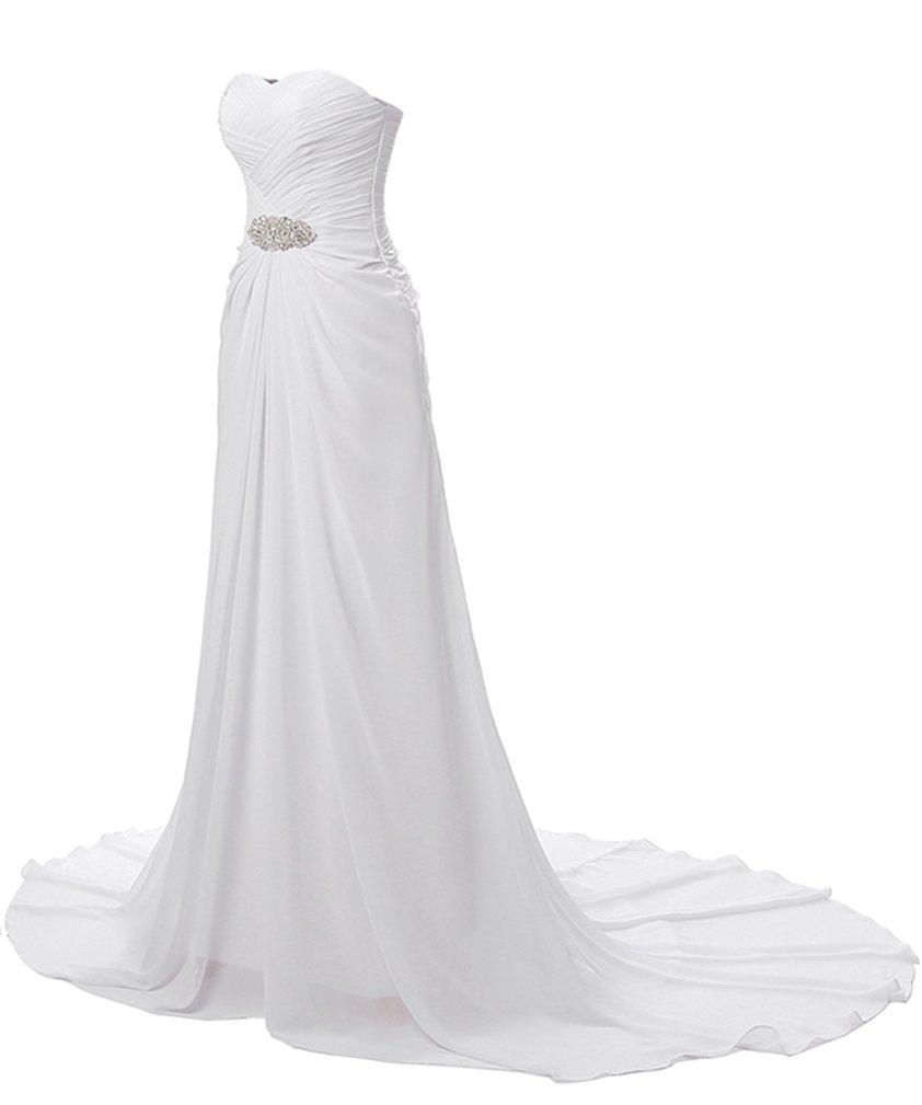 Gladiolus Mujer Vestido de Novia Largo sin Tirantes Elegante y Encantador - Blanco - 5XL: Amazon.es: Deportes y aire libre
