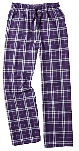 boxercraft Flannel Pajama Pants-Purple/White-XL