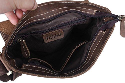 Zenness New Fashion Leder Tablet Umhängetasche Kleine Handtasche für Ipad