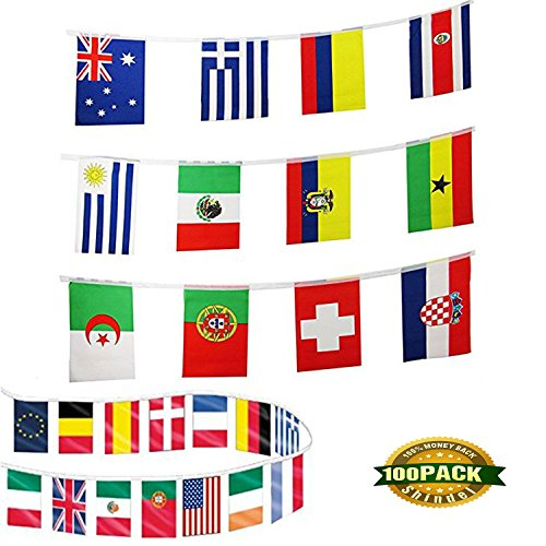 International Country String Flags 100 Country Flag Pennants for Grand Opening,Olympics,Bar Party Events - Olympic Events Summer