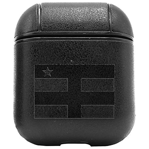 - Central African Republic (Vintage Black) Engraved Air Pods Protective Leather Case Cover - a New Class of Luxury to Your AirPods - Premium PU Leather and Handmade exquisitely by Master Craftsmen