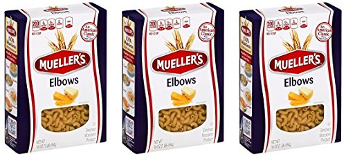 Muellers Elbow Pasta Macaroni, 16 Ounce (Pack of 3)