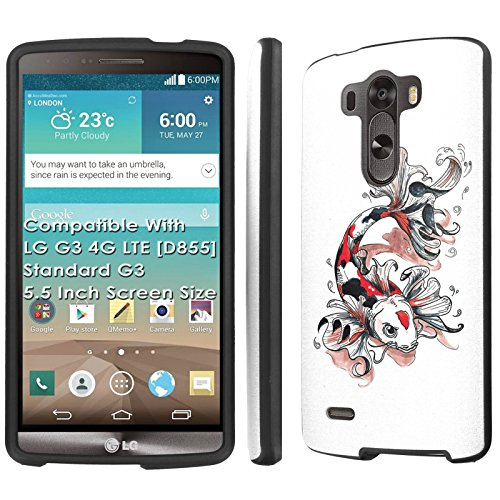 LG G3 4G LTE [D855][Standard G3 with 5.5 Inch Screen] Case, [NakedShield] [Black] Total Armor Protection Case - [Koi Tattoo] for LG G3 [5.5 Inch Screen] 4G LTE [D855]