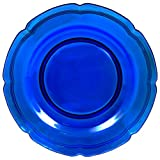Mikasa French Countryside Cobalt Glass Charger Serving Platter, 13-Inch, Blue