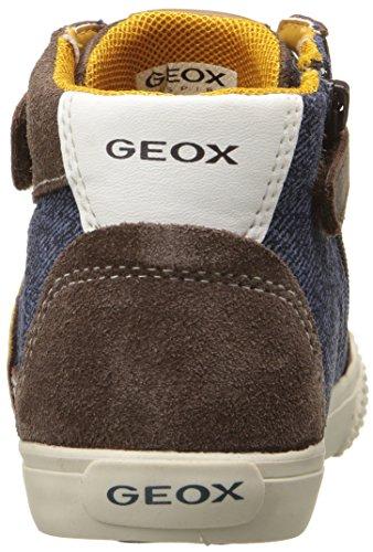Geox B Kiwi Boy C, Botines de Senderismo para Bebés Braun (DK BROWN/NAVYC0946)