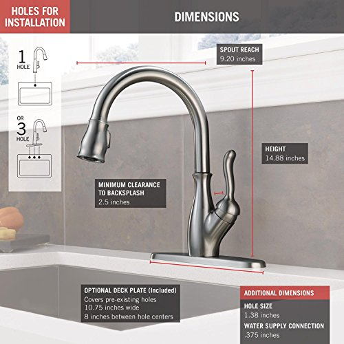 Delta Leland Single-Handle Pull-Down Kitchen Faucet With