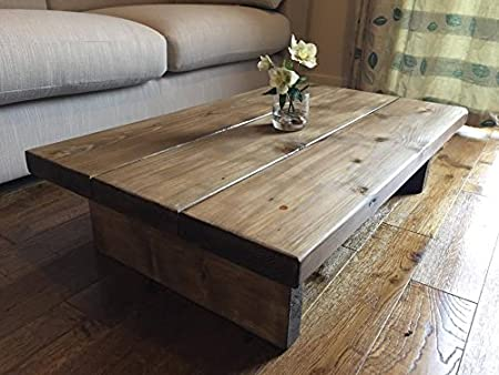 New Forest Rustic Furniture Solid Rustic Handmade Pine coffee table
