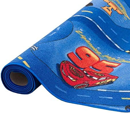 17 Tailles Disponibles Snapstyle Tapis de Jeu pour Enfant Disney Cars Bleu Circuit de Route