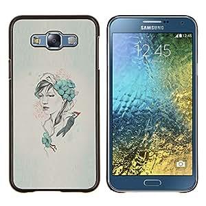 Qstar Arte & diseño plástico duro Fundas Cover Cubre Hard Case Cover para Samsung Galaxy E7 E700 (Arte pop Carpintero)