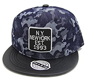 Zero & Up Blue Camo Baseball Cap Snapback Hat one Size Fits Most