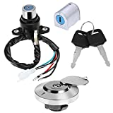Ignition Switch Fuel Gas Cap Steering Lock Set