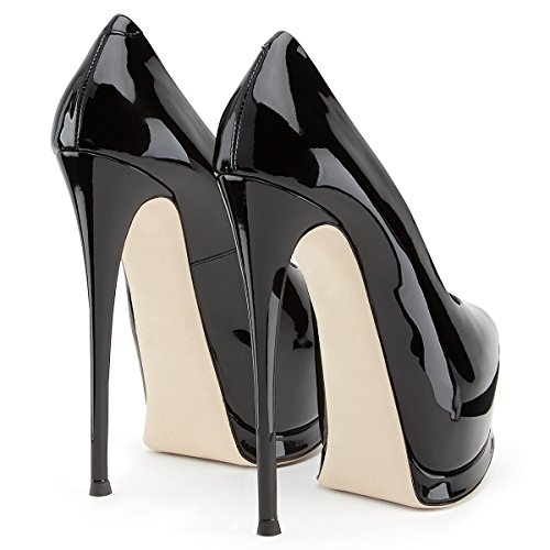 Noir Party Talon C PU Work Printemps Pointu Formelle amp; Business 38 Carrière Stiletto Taille amp; XUE Chaussures Soirée Été Femmes Couleur Bureau Une Boucle Chaussures qZWwP1H