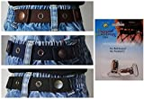 Dapper Snappers Baby & Toddler Belt (Boys 3 Pack with Clips) - Black, Brown and Navy