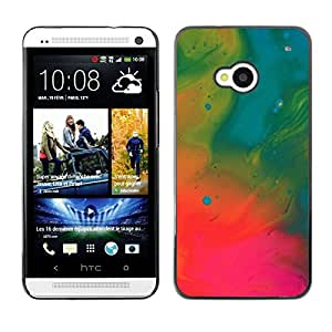 Stuss Case / Funda Carcasa protectora - Wallpaper Oil Painting Neon Art Drawing - HTC One M7