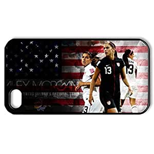 Alex Morgan Hard Back Case Shell Cover Skin for iPhone 6(4.7) Plastic and TPU (Laser Technology) - 1 Pack - Retail Packaging - 6136