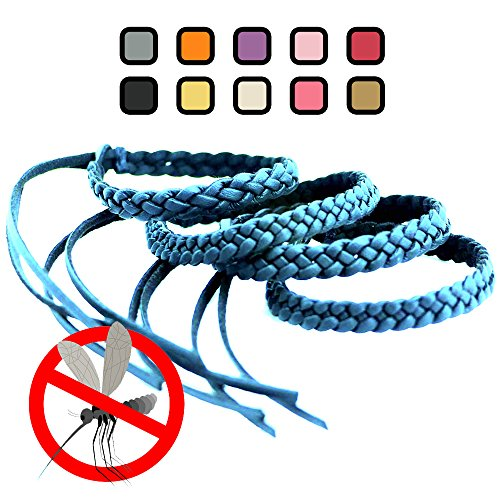 Kinven Original Mosquito Repellent Bracelet Natural DEET FREE Insect Repellent Bands, Anti Mosquito up to 360Hrs Protection Outdoor and Indoor, for Adults & Kids, 4 bracelets, Color: Light (Dunk Light)