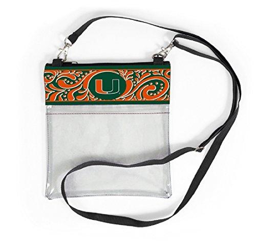 Desden Miami Hurricanes Clear Gameday Crossbody Bag by Desden