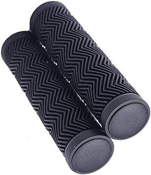 1 Pair Anti slip Bicycle Rubber Handlebar Grips Cover Bike Hand Grip Black