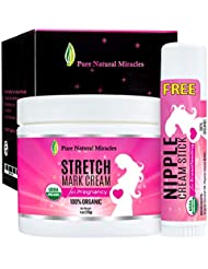 Stretch Mark Cream for Pregnancy, Belly Butter - 100% Organic