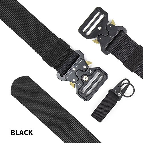 Chessun Men's Nylon Tactical Belt, 1.5'' Military Style Rigger Duty Belt Quick Release Metal Buckle 100% Full Refund Assurance by Chessun (Image #2)
