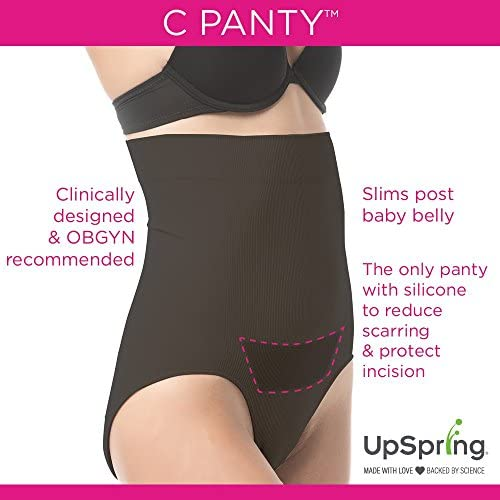C Panty Recovery Underwear and Incision Care Cesarean Panties with Silicone Scar Healing Panel, Regular and Plus Sizes