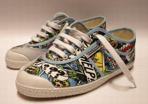 Kawasaki - Zapatillas (talla 38), diseño de cómic: Amazon.es: Zapatos y complementos