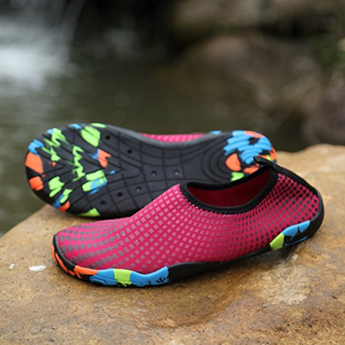 Shoes Water Slippers Diving Wading Socks Red Drying Men Wine Aquas Sneaker Beach Dovaly Shoes Quick 7dRw7q4