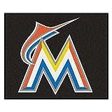 "Fanmats Sports Team Logo Mat Florida Marlins Tailgater Rug 60""72"""