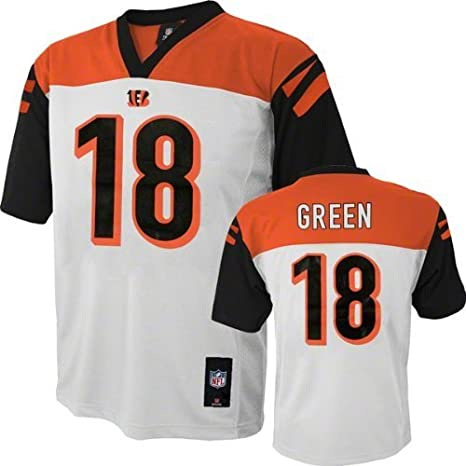 8936f0c72 Amazon.com  A.J. Green Cincinnati Bengals  18 NFL Youth Mid-tier Jersey  White (Youth Xlarge 18 20)  Clothing