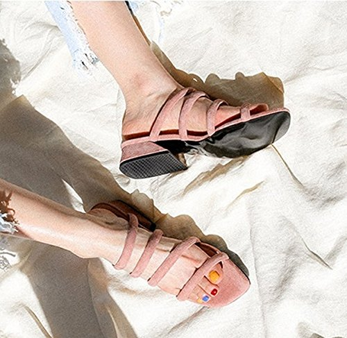 Qingchunhuangtang@ Ein Wort Mit Sandalen Sandalen Sandalen Und Nackten Zehen Hausschuhe Hausschuhe Und Pantoffeln Zu Verhindern Grau 9dcfe8