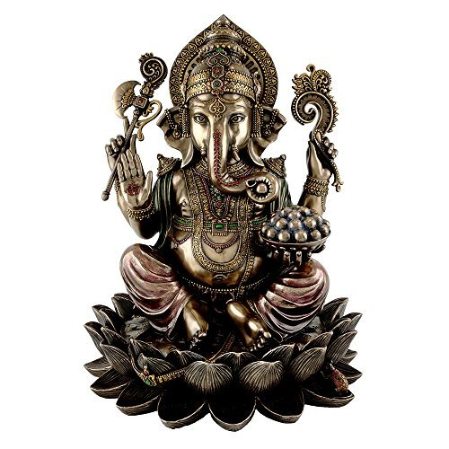 King Tut's Secret Ganesha Hindu Elephant Statue, Multicolor