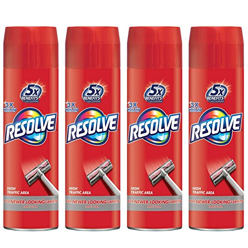 Resolve High Traffic Carpet Foam, 22 oz Can, Cleans Freshens Softens & Removes Stains (Pack of ()