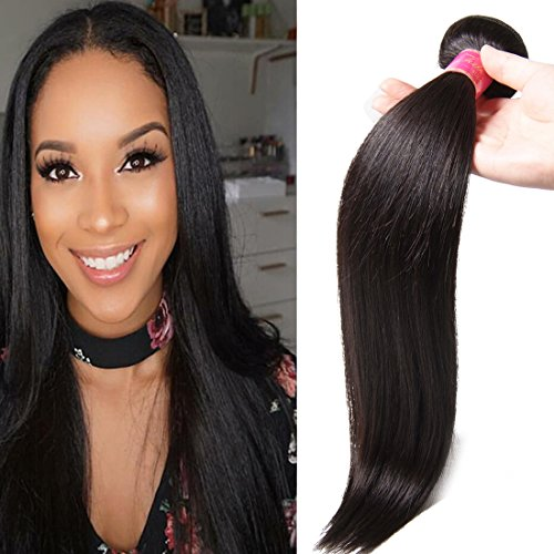 Ali Julia Hair 8A Brazilian Straight Hair One Bundle Deal Unprocessed 100% Virgin Human Weave Hair Extensions Natural Color 28 inch (1 Deal)