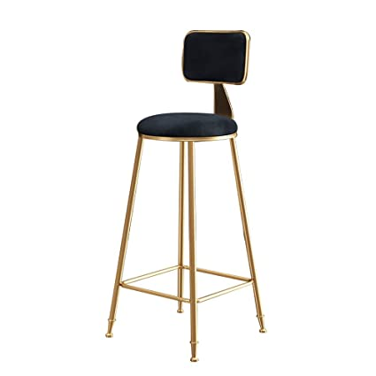 Groovy Nordic Simple Gold Bar Chair Backrest High Stools Subnet Red Camellatalisay Diy Chair Ideas Camellatalisaycom