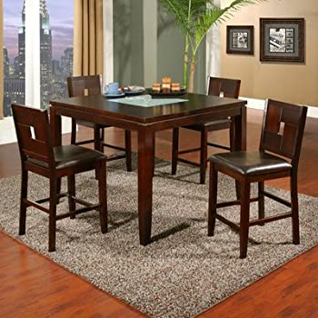 lakeport 5 piece counter height dining set